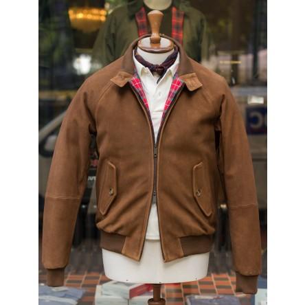 Baracuta G9 Heavy Suede Harrington Jacket
