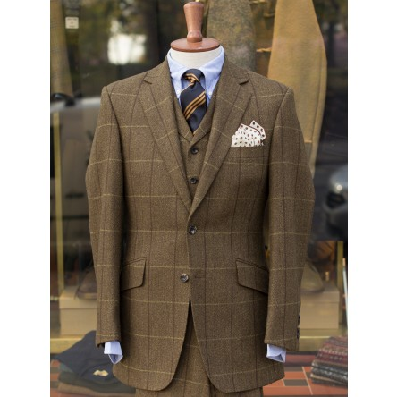 Hevingham Olive Check Tweed 3-piece Suit