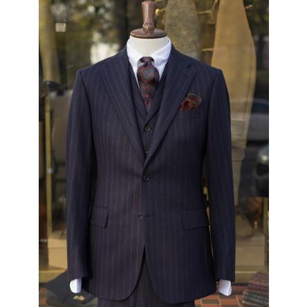 Bladen Chalk Stripe Fox Flannel 3-piece Suit