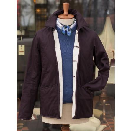Lavenham Nowton Jersey Lined Cotton Twill Jacket Navy