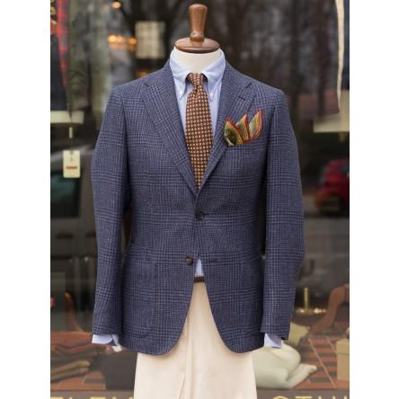 Drakes Glencheck Linen Blend Jacket