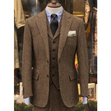 Bladen Brown Micro-check Harris Tweed 3 Piece Suit
