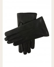 Dents Fur Lined Leather Gloves Black