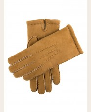 Dents Lamb Suede Shearling Gloves Gloves Camel