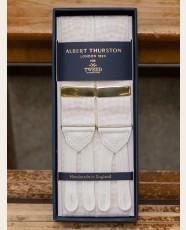 Albert Thurston Moire Braces Ivory White
