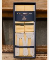 Albert Thurston Nubuck Barathea Braces Champagne Yellow