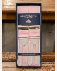 Albert Thurston Nubuck Barathea Braces Hydranger Pink