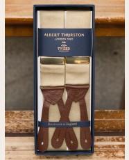 Albert Thurston Plain Barathea Braces Khaki