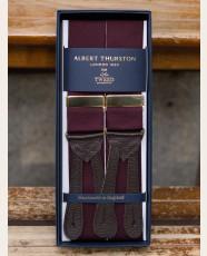 Albert Thurston Plain Barathea Braces Maroon
