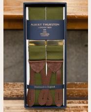 Albert Thurston Plain Barathea Braces Olive