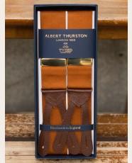 Albert Thurston Plain Barathea Braces Rust