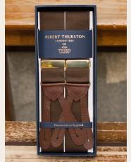 Albert Thurston Plain Barathea Braces Coffee