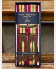 Albert Thurston Striped Barathea Braces Red/Yellow/Green