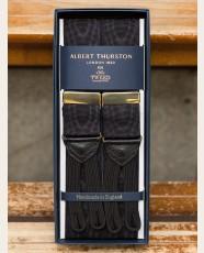 Albert Thurston Moire Braces Black