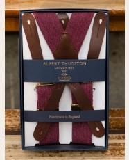 Albert Thurston Army Braces Burgundy