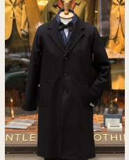Gloverall Raglan Chesterfield Coat Black