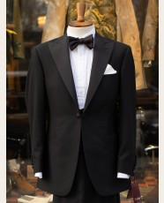 Bladen Black Serge Dinner Jacket and Waistcoat