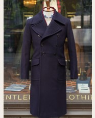 Chrysalis Patch Pocket Greatcoat Navy