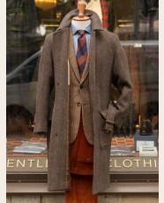 Chrysalis Belted Raglan Tweed Coat Chocolat