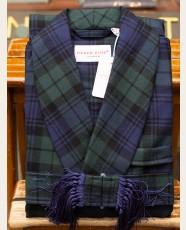 Derek Rose Black Watch Wool Dressing Gown