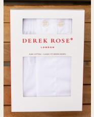 Derek Rose Classic Fit Boxer Shorts White