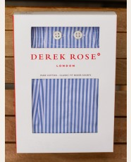 Derek Rose Classic Fit Boxer Shorts Bengal Stripe Blue