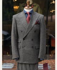 Bladen Glencheck Fox Flannel DB Suit Grey
