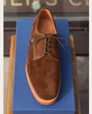 Sanders Jackson Suede Derby Shoe Polo Snuff