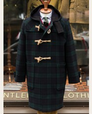 Tartan Monty Duffle Coat Black Watch