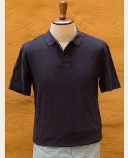 Terry Polo Shirt Navy
