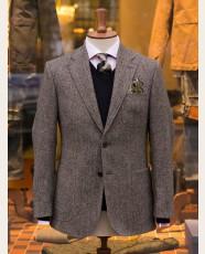 Bladen Gunton Shetland Tweed Jacket Grey HB