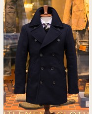 Private White V.C. X Permanent Style Bridge Coat Navy