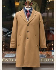 Gloverall Raglan Chesterfield Coat Camel