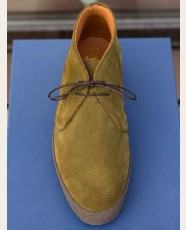 Sanders High-Top Suede Chukka Boot Moss Green