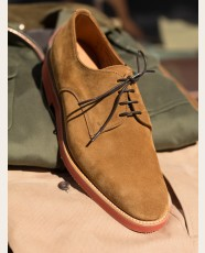 Sanders Jackson Suede Derby Shoe Indiana Tan