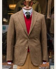 Bladen Gunton Shetland Tweed Jacket Camel HB