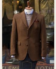 Bladen Norfolk Shetland Tweed Jacket Tobacco HB