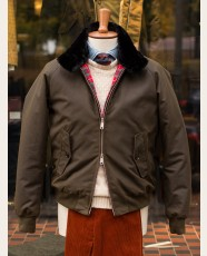 Baracuta G9 Waxed Cotton Harrington Jacket Deep Moss