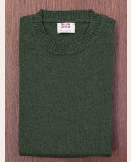 William Lockie Slim Lambswool Single Crew Rosemary