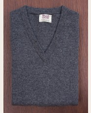 William Lockie Slim Lambswool Vee-neck Cliff