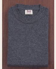 William Lockie Slim Lambswool Single Crew Cliff