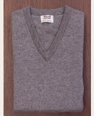 William Lockie Slim Lambswool Vee-neck Vole