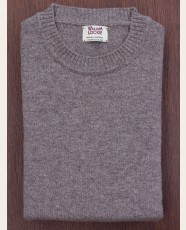 William Lockie Slim Lambswool Single Crew Vole