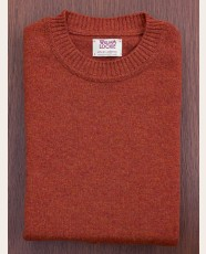 William Lockie Slim Lambswool Single Crew Tiger
