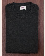 William Lockie Slim Lambswool Single Crew Seaweed