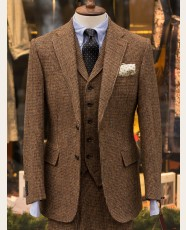 Bladen Brown Micro-check Harris Tweed 3-Piece Suit