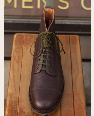 Sanders Military Collection Cap Derby Boots Grain Chocolate