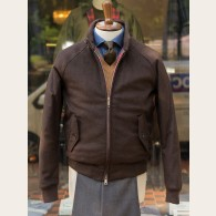 Baracuta G9 Melton Wool Harrington Jacket Chocolate 38