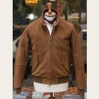 Baracuta G9 Heavy Suede Harrington Jacket Tobacco 40