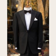 Bladen Black Serge Dinner Jacket and Waistcoat 36R